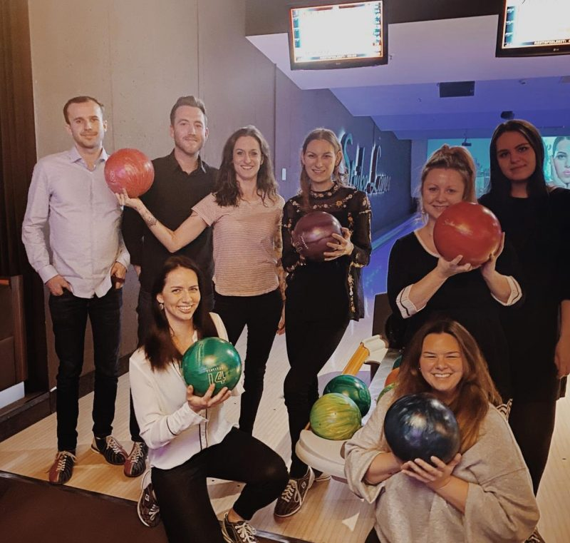 SOLUTE Team beim Bowling