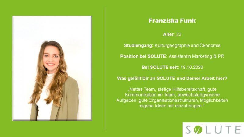 Steckbrief Franziska Funk